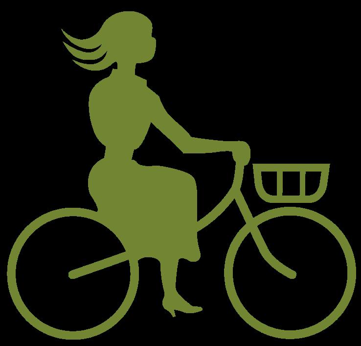 Femme à bicyclette