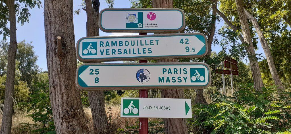 Panneaux directionnels de la Véloscénie