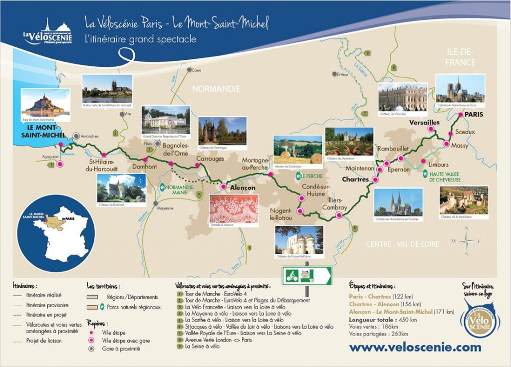 Carte de la Véloscénie